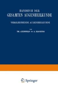 Cover Handbuch der Gesamten Augenheilkunde