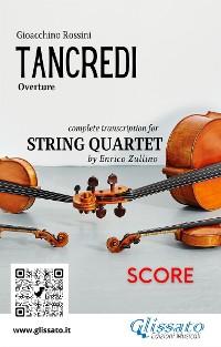Cover Tancredi (overture) String Quartet - Score