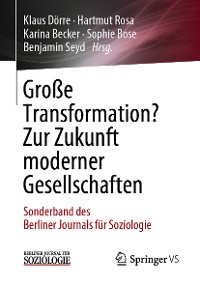 Cover Große Transformation? Zur Zukunft moderner Gesellschaften