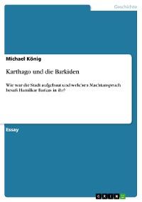 Cover Karthago und die Barkiden