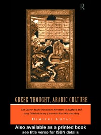 Cover Greek Thought, Arabic Culture