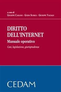 Cover Diritto dell'internet. Manuale opertivo. Casi, legislazione, giurisprudenza