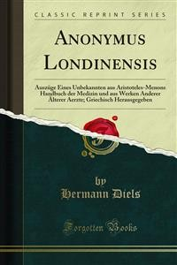 Cover Anonymus Londinensis