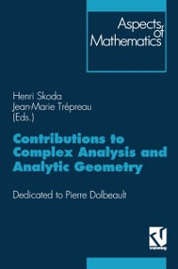 Cover Contributions to Complex Analysis and Analytic Geometry