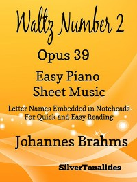 Cover Waltz Number 2 Opus 39 Easy Piano Sheet Music
