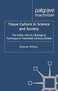Cover Tissue Culture in Science and Society