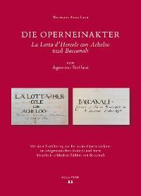 "Cover Die Operneinakter ""La Lotta d'Hercole con Acheloo"" und ""Baccanali"" von Agostino Steffani"