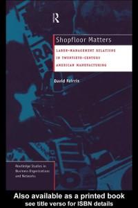 Cover Shopfloor Matters