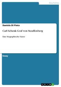 Cover Carl Schenk Graf von Stauffenberg