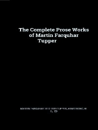 Cover The Complete Prose Works of Martin Farquhar Tupper