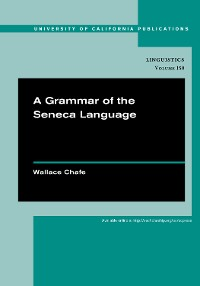 Cover A Grammar of the Seneca Language