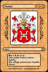 Cover The noble Polish Hutor family. Die adlige polnische Hutor Familie.