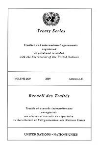 Cover Treaty Series 2629/Recueil des Traités 2629