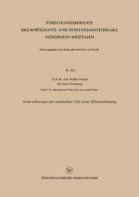 Cover Untersuchungen der anodischen Teile einer Glimmentladung