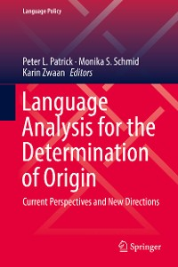 Cover Language Analysis for the Determination of Origin