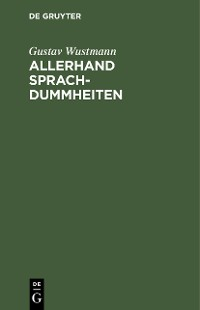Cover Allerhand Sprachdummheiten