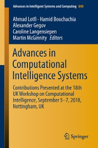 Cover Advances in Computational Intelligence Systems
