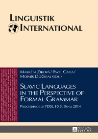 Cover Slavic Languages in the Perspective of Formal Grammar