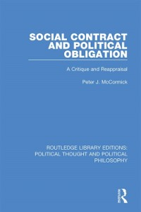 Cover Social Contract and Political Obligation