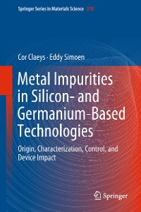 Cover Metal Impurities in Silicon- and Germanium-Based Technologies