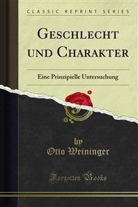 Cover Geschlecht und Charakter