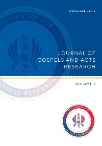 Cover Journal of Gospels and Acts Research