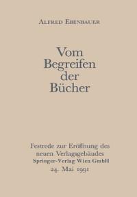 Cover Vom Begreifen der Bucher