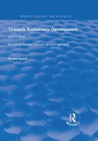 Cover Towards Sustainable Development