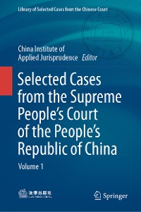 Cover Selected Cases from the Supreme People's Court of the People's Republic of China
