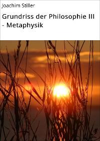 Cover Grundriss der Philosophie III - Metaphysik