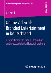 Cover Online Video als Branded Entertainment in Deutschland