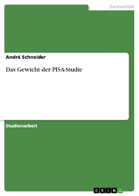 Cover Das Gewicht der PISA-Studie