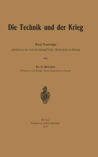Cover Die Technik und der Krieg