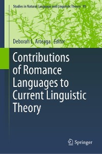 Cover Contributions of Romance Languages to Current Linguistic Theory