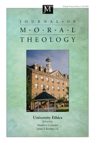 Cover Journal of Moral Theology, Volume 9, Special Issue 2