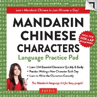 Cover Mandarin Chinese Characters Language Practice Pad