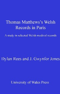 Cover Thomas Matthews' Welsh Records in Paris