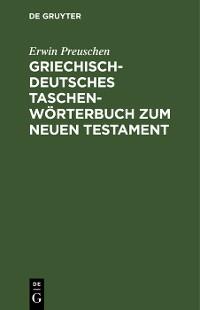 Cover Griechisch-deutsches Taschenwörterbuch zum Neuen Testament