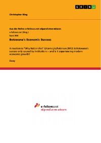 Cover Botswana's Economic Success