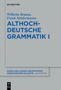 Cover Althochdeutsche Grammatik I