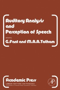 Cover Auditory Analysis and Perception of Speech