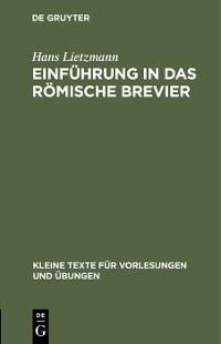 Cover Einführung in das römische Brevier