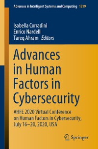 Cover Advances in Human Factors in Cybersecurity
