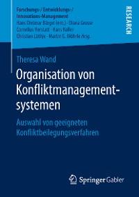 Cover Organisation von Konfliktmanagementsystemen