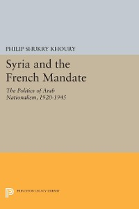 Cover Syria and the French Mandate