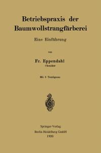 Cover Betriebspraxis der Baumwollstrangfarberei
