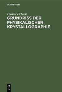 Cover Grundriss der physikalischen Krystallographie