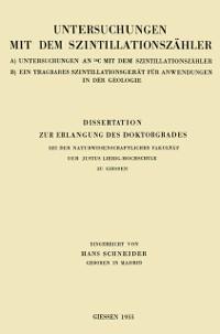 Cover Dissertation zur Erlangung des Doktorgrades