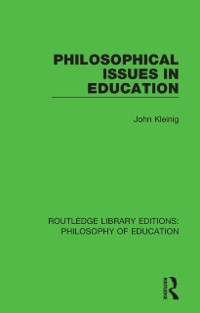 Cover Philosophical Issues in Education