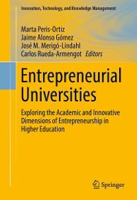 Cover Entrepreneurial Universities
